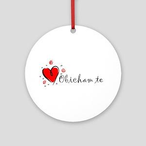 """I Love You"" [Bulgarian] Ornament (Round)"
